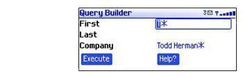 Query builder on mobile device