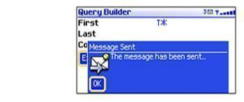Query builder showing process on mobile device