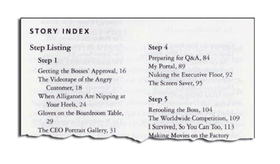 "Index from John Kotter's book ""The Heart of Change"""