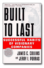 "Cover to the book ""Built to Last: Successful Habits of Visionary Companies"""