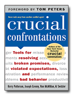 "Cover to the book ""Crucial Confrontations: Tools for Resolving Broken Promises, Violated Expectations, and Bad Behavior"""