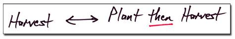Harvest --- Plant Then Harvest