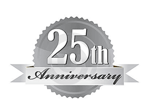 25th-anniversary-seal by dreamstime.com